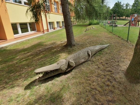 Zahrada s krokodýlem