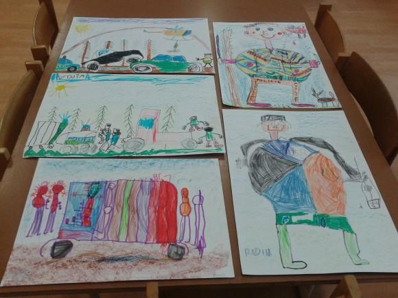 Obrázky dětí ze třídy Sluníček